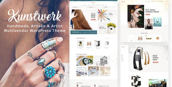 Kunstwerk – Handycraft Marketplace WordPress Theme Preview
