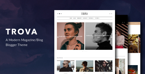 Trova – Modern Blog/Magazine Blogger Theme Nulled Free Download