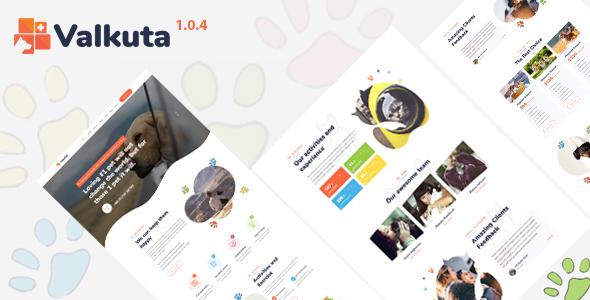 Valkuta – Pet WordPress Theme Preview