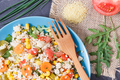 Fresh salad with couscous and vegetables as best nutritious food - PhotoDune Item for Sale