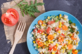 Fresh salad with couscous and vegetables. Light dietary vegan meal - PhotoDune Item for Sale