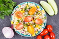 Salad with vegetables and bulgur groats. Healthy meal containing vitamins and minerals - PhotoDune Item for Sale