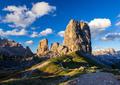Cinque Torri mountain peak at sunset, Belluno,Dolomites Alps, Italy - PhotoDune Item for Sale