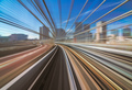 Motion blur of train moving inside tunnel in Tokyo, Japan - PhotoDune Item for Sale