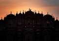 Silhouette of Hawa Mahal palace with monkey at sunset, Jaipur, Rajasthan, India - PhotoDune Item for Sale