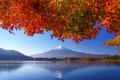 Mountain fuji with red maple in Autumn, Kawaguchiko Lake, Japan - PhotoDune Item for Sale
