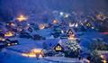 Shirakawago village light up festival in winter, Gifu, Chubu, Japan - PhotoDune Item for Sale