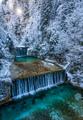 Beautiful Waterfall in winter, Slovenia, Europe - PhotoDune Item for Sale