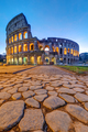 The illuminated Colosseum in Rome at dawn - PhotoDune Item for Sale