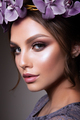 Beautiful Girl with Flowers. Pastel Colors. Perfect Face Skin - PhotoDune Item for Sale