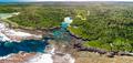 The Blue Lagoon from drone, Port Vila, Efate, Vanuatu - PhotoDune Item for Sale