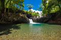 Vibrant Togitogiga falls with swimming hole on Upolu, Samoa Islands - PhotoDune Item for Sale
