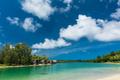 Tropical resort destination in Port Vila, Efate Island, Vanuatu, beach and palm trees - PhotoDune Item for Sale