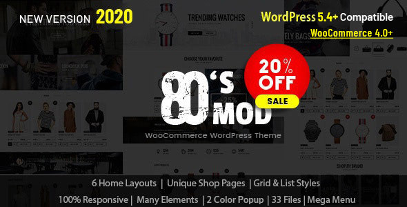 80's Mod - Build Your Store with A Vintage Styled WooCommerce WordPress Theme