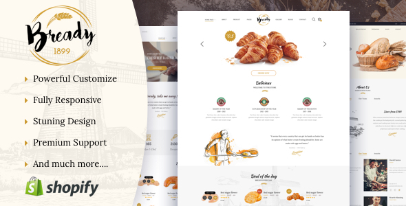 Bready - Bakery  Shopify Theme