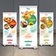 Restaurant Roll Up Banner - GraphicRiver Item for Sale