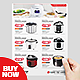Product Flyer Template - Rice Cooker Promotion - GraphicRiver Item for Sale