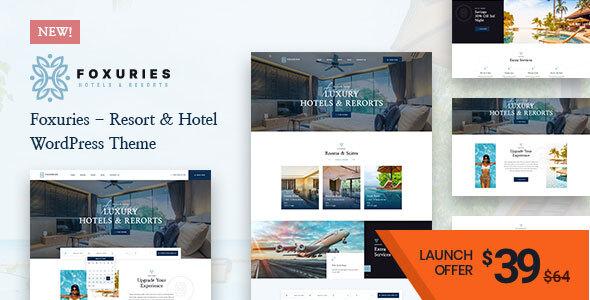 Foxuries – Resort & Hotel WordPress Theme Preview
