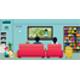 Family Watching TV - GraphicRiver Item for Sale
