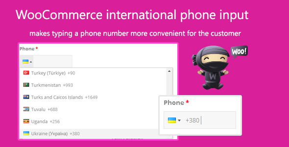 WooCommerce international phone input Download