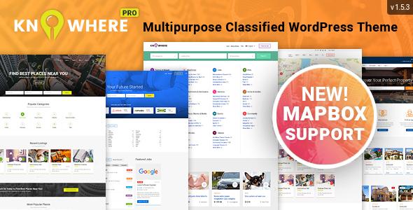 Knowhere Pro - Multipurpose Classified Directory WordPress Theme