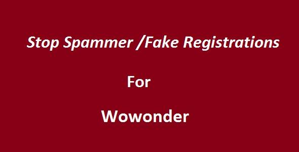 Stop Spammer-Fake Registrations For Wowonder Download
