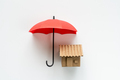 House under red color umbrella - PhotoDune Item for Sale