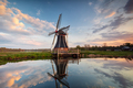 windmill and sky  reflected in water - PhotoDune Item for Sale