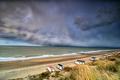 dramatic storm cloud rolling over sea coast - PhotoDune Item for Sale