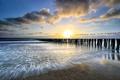 beautiful sunset over North sea coast - PhotoDune Item for Sale