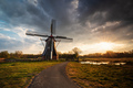 sunrise behind beautiful windmill - PhotoDune Item for Sale