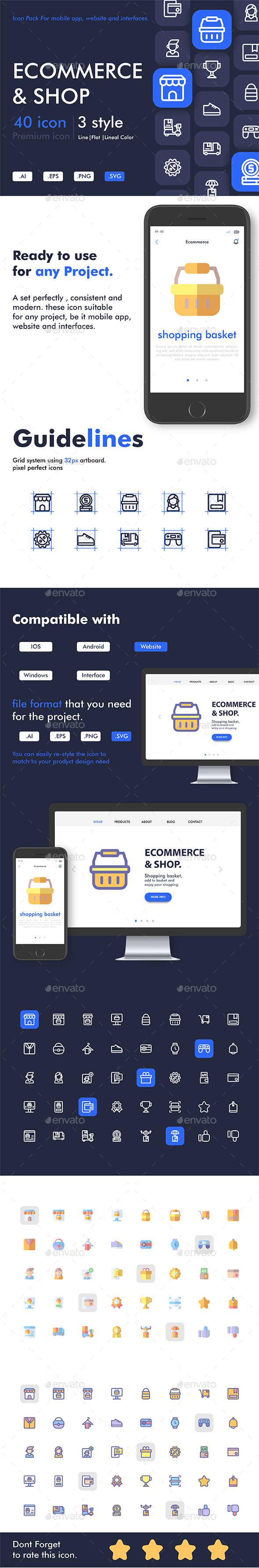 Ecommerce and Shop icon pack