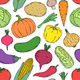 Pattern with Hand Drawn Vegetables - GraphicRiver Item for Sale