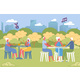 Elderly People Play Bingo or Lotto Game in Park. - GraphicRiver Item for Sale