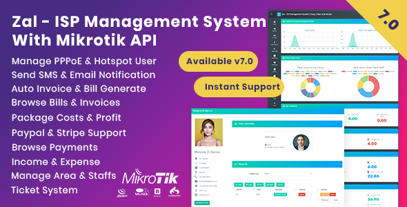 Zal - ISP Management System With Mikrotik API Download