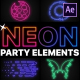 Neon Party Elements   After Effects - VideoHive Item for Sale
