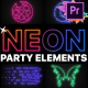 Neon Party Elements   Premiere Pro MOGRT - VideoHive Item for Sale