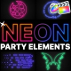Neon Party Elements   FCPX - VideoHive Item for Sale