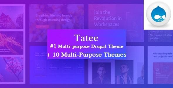 Tatee - Massive Multipurpose Corporate Drupal 8 Theme