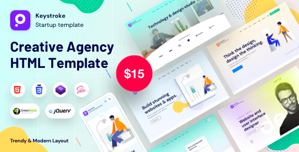 keystroke - Creative Agency, Digital Agency Template