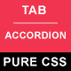 Tab Switch Accordion Pure CSS - CodeCanyon Item for Sale