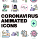 Coronavirus Animated Icons 2.0 - VideoHive Item for Sale