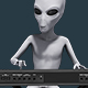 Alien Playing Keyboards 4K - VideoHive Item for Sale