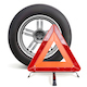 Vector Car Wheel with Triangle Sign - GraphicRiver Item for Sale