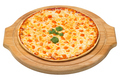 Pizza Margherita on a wooden tray - PhotoDune Item for Sale