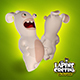 Rabbids Invasion - Rigged - 3DOcean Item for Sale