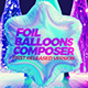 Foil Balloons Composer Looped - VideoHive Item for Sale