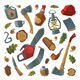 Lumberjack Tools and Items - GraphicRiver Item for Sale