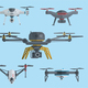 Aircrafts Drones Set - GraphicRiver Item for Sale
