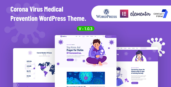 Korisna – Coronavirus Medical Prevention WordPress Theme Preview